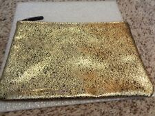 Bare Escentuals Bareminerals Gold Zip Cosmetic MakeUp Pouch Bag
