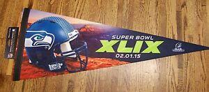 Seattle Seahawks NFC Champions premium pennant champs SB Super Bowl 49 XLIX