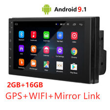 2Din Android 9.1 HD Car Stereo Radio GPS MP5 Player Mirror Link 2+16 GB 7inch