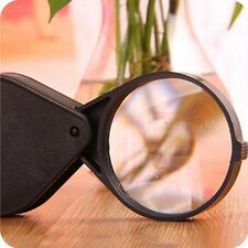 ES_ 10X Mini Triple Folding Pocket Magnifier Loupe Magnifying Glass Lens  Little