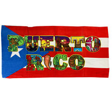 Puerto Rico Beach Towel Flag Name
