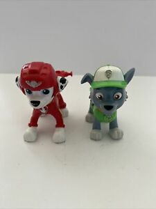 Paw Patrol Rocky & Marshall Pup Action Figures Character.GC