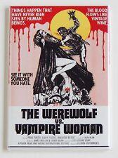 Werewolf vs. Vampire Woman FRIDGE MAGNET (2.5 x 3.5 inches) movie poster