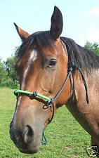 O-ring Rope Horse Training / Riding Halter w/Fancy Twisted Nose- GR8 4 Cross Tie