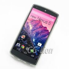 clear white.Soft Gel TPU Rubber Silicone Case Skin Cover For LG D820, Nexus 5