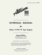 ALLISON V-1710 E TYPE ENGINE ( WITH SHAFT EXTENSION )  - OVERHAUL MANUAL 1943