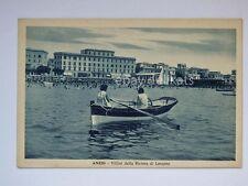ANZIO villini Riviera Levante barca animata Roma vecchia cartolina