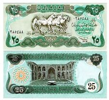 Iraq 25 Dinars Uncirculated note 1990