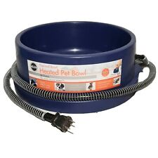 K&H Thermal Bowl Heated Dog Cat Pet Food 96 Ounce No More Frozen Water Blue