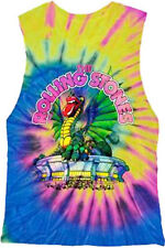 The Rolling Stones-Tie Dye Dragon All over-X-Large-Girl's Junior Tanktop T-shirt
