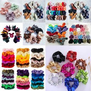 Wholesale Girls Women Elastic Hair Scrunchies Ponytail Holder Colorful Hair Band