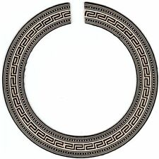 Classical Guitar Rosette for Luthier - Greek Key Style Timber Mosaic #14