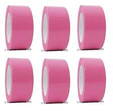 """2"""" x 110 yd Pink 6 Rolls Packaging Packing Tape Carton Sealing - Free Shipping"""