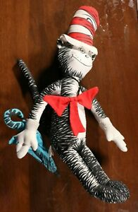 Vintage 90s The Cat In The Hat Stuffed Doll PBS TV Show Cartoon Toy Dr. Seuss