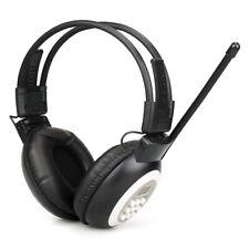 Foldable FM Headset Radio Headphone Receiver Stereo/Mono for Meeting/Church US