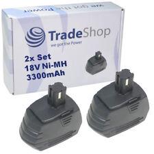 2x Trade-Shop AKKU 18V 3300mAh ersetzt Hilti SFB180 SFB185 für SF180 SF180-A
