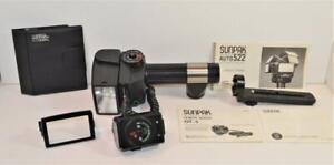 Sunpak Thyristor Auto 522 Electronic Flash Unit w Remote Sensor Filters Manuals