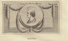 Guido Reni incisione in rame 1847