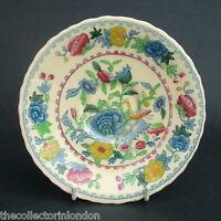 TWO Vintage Masons Regency C4475 Pattern Tea Saucers 15.25cm Dia Crazed