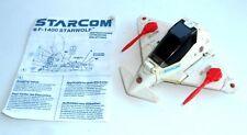 (A144) Vintage 1980's Starcom Toys ~ F-1400 STARWOLF ~ Star Wing - WORKING