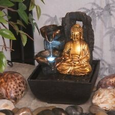 Indoor Water Feature Indoor Water Fountain Mini Majestic Golden Buddha Fountain