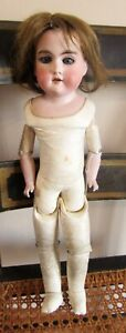 """18"""" Antique Floradora A&M Bisque Shoulder Head Doll A.01/2.M - Made in Germany"""