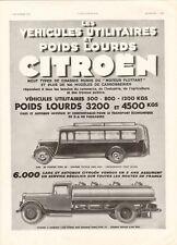 1933 Publicite Automobile - Poids Lourds CITROEN, Camions-Autobus