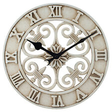"BBB86491 La Crosse Clock Company 14"" Indoor/Outdoor Cast Metal Analog Wall Clock"