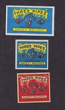 Anciennes étiquettes de paquet  allumettes Finlande  BN44911 Trois pipes