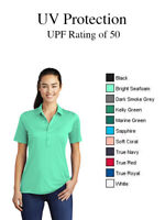Sport Tek ST520 Moisture Wicking UV Protection Womens Performance Polo UPF 50