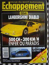 ECHAPPEMENT 1990 MERCEDES 190 SUPERTOURISME + DTM / CLIO 16S COUPE /LAMBO DIABLO
