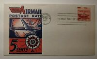 1947 Airmail Postage Rate Washington DC FDC Illustrated Patriotic Cover