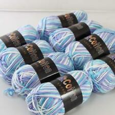C 8ballx50g Multicolor Cotton Baby Yarn Hand-dyed Wool Socks Scarf Knitting 09