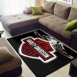 NEW-Home Decor Harley Davidson Rug, Harley Davidson Gifts,Harley Rug,Themed Rug