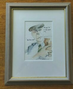 "Tim Bulmer Original Watercolour ""The Beer Man"" Framed 2004"