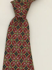 GUCCI GREEN RED WHITE ANCHOR 100% SILK TIE
