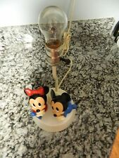 """Disney"" Baby Mickey & Minnie Nursery Lamp Ul approved 3 light positions"