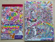 Lisa Frank Color Me Adult Coloring Book Art Therapy Unicorn + 600 stickers A