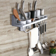 Wall Mount Kitchen Iron Pot Pan Rack Hanging Cookware Organizer Holder Hanger