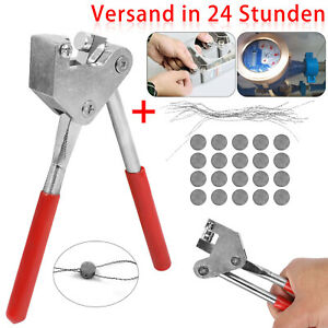 Bleiplombenzange Plombenzange Stahl + 20 Plombendrähte +20 Plomben Set für Blei