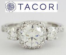 0.48 ct TACORI Dantela 54-2CU6 18k White Semi-Mount Engagement Ring Rtl $4,380