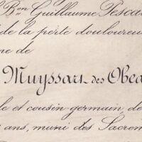 Paul Louis De Muyssart Des Obeaux 1876 Avocat Douai