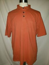 2 Duluth Trading Co Longtail T Front Pocket Polo Green Orange Shirt XL