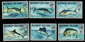 BRITISH VIRGIN ISLANDS SG277/82 1972 GAME FISH MNH