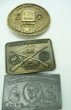 Vintage Men's Belt Buckle LOT Colt NRA Firearms Blocker Drilling Safety Award