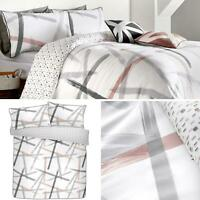 Blush Duvet Covers Abstract 100% Cotton Luxury White Quilt Cover Bedding Sets