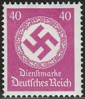 Stamp Germany Official Mi 176 Sc O102 1942 WWII 3 Reich Nazi Era Dienst War MNH