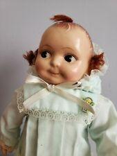 "Antique Composition Head & Hands Cloth Body Kewpie Doll 10"""