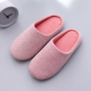 Women Men Winter Warm Super Soft Home Indoor Slip On House Cotton Slippers Shoes