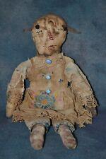 "New listing Raggedy Ann Doll, Primitive, Mustard Seed Orig, Vintage Fabric, 15"" Tall - Ooak"